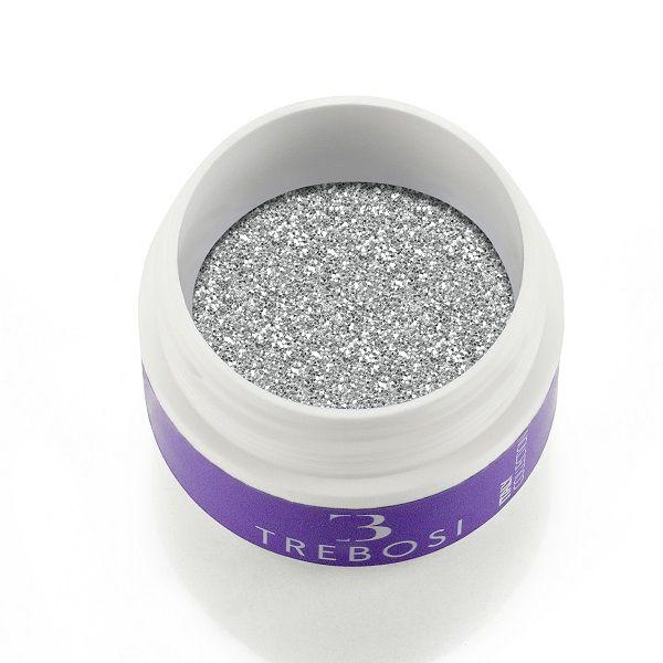 gel color argento glitterato