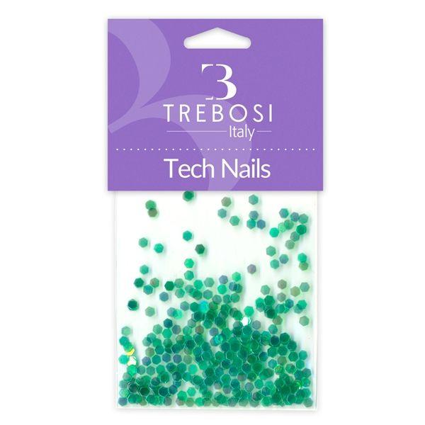 esagoni verdi per unghie