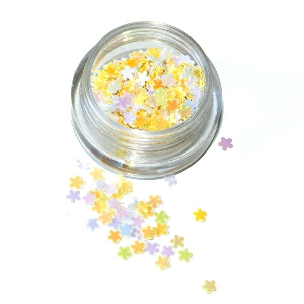 fiori gialli per unghie