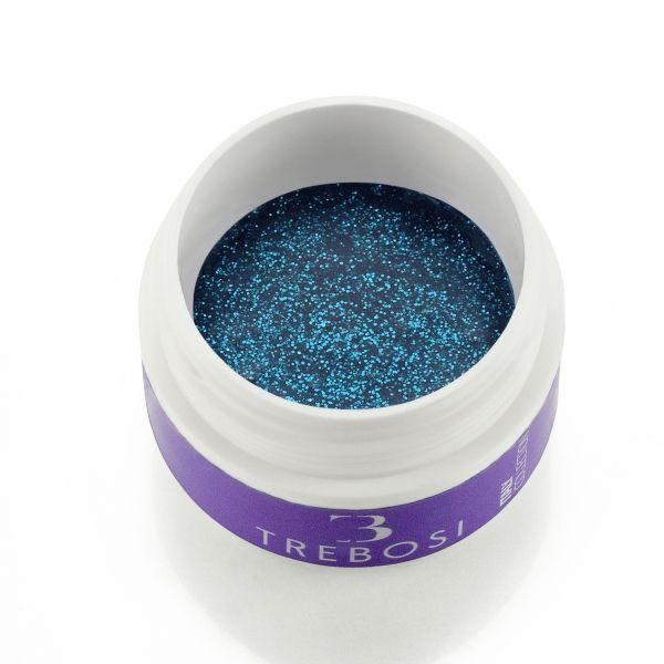 Gel color blu oltremare glitterato