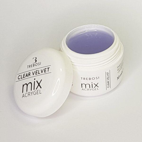 Clear Velvet Acrygel, barattolo aperto - Trebosi