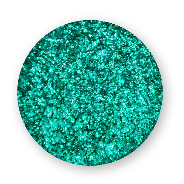 polvere effetto mirror verde