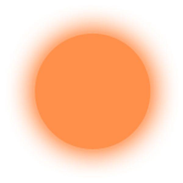 Polvere fosforescente orange