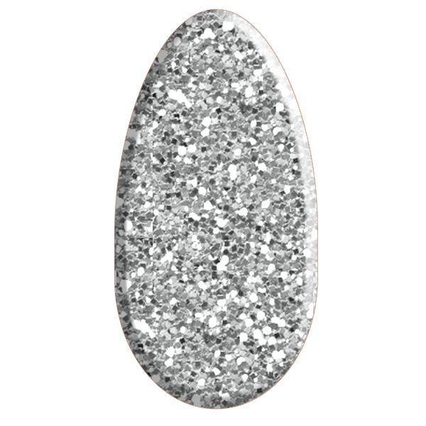 Smalto semipermanente argento glitterato