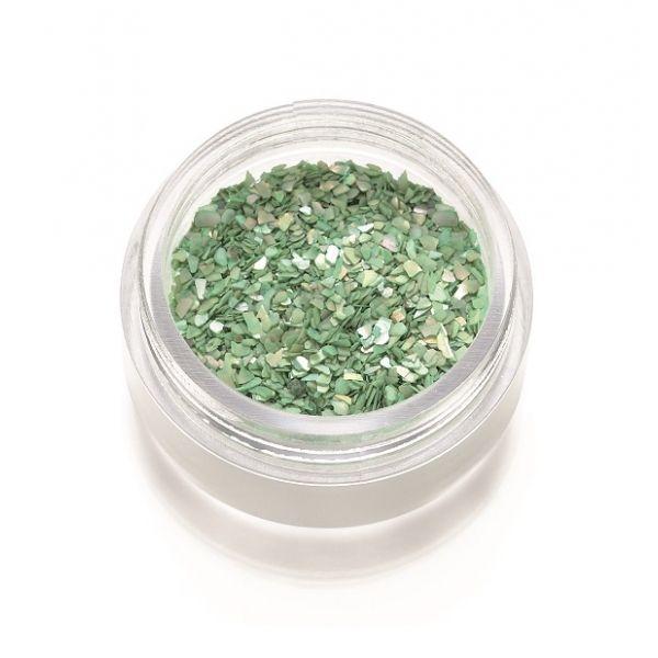 Frammenti di madreperla verde