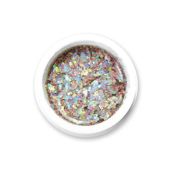gel color sparkling hologram